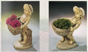 Flower BoyAnd Girl Planter Set by Henri Studio.