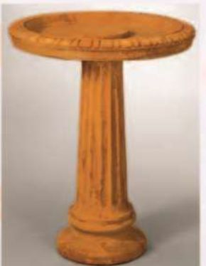 Fluted Birdbath By Henri Studio