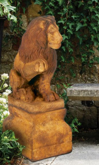 Lion {Right Paw Up} by Henri Studio.