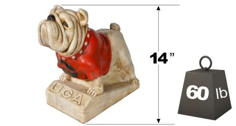 "UGA ""Bull Dog"" College Mascot By Henri Studio. Fully Painted."