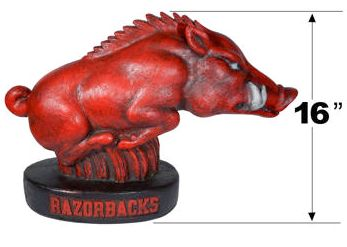 "Arkansas ""Tusk"" College Mascot By Henri Studio. Fully Painted."