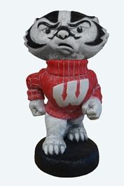"Wisconsin ""Bucky Badger"" College Mascot By Henri Studio. Trevia"