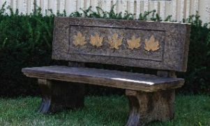 GRAND LEAF BENCH by Henri Studio