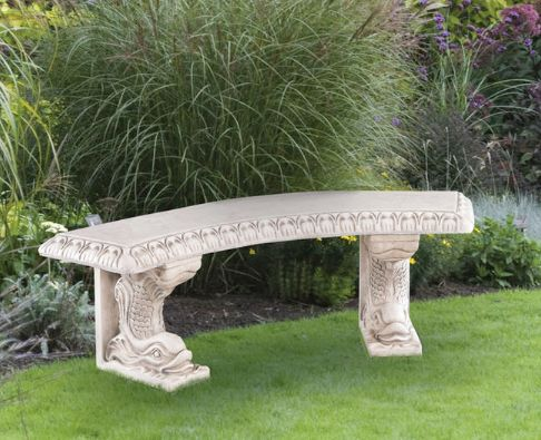 Curved Dolphin Bench by Henri Studio