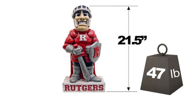 "Rutgers ""Scarlet Knight"" College Mascot By Henri Studio (Fully P"