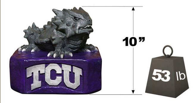 "TCU ""Horned Frog"" Mascot By Henri Studio. Fully Painted."