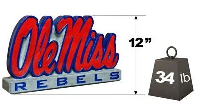 "Mississippi ""Ole Miss"" Mascot By Henri Studio. Fully Painted."