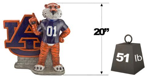 "Auburn ""Aubie the Tiger"" Mascot By Henri Studio. Fully Painted."