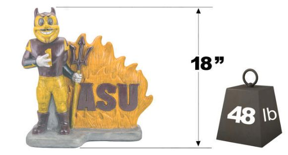 "Arizona State ""Sparky"" Mascot By Henri Studio. Fully Painted."