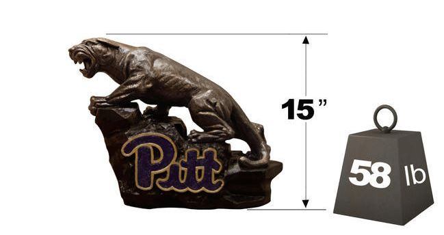 "Pittsburgh ""Pitt Panther"" College Mascot By Henri Studio HT"