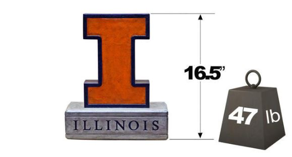"Illinois Block ""I"" Mascot 2999V By Henri Studio"