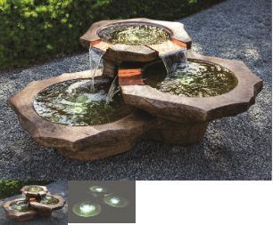 STONE BASINS FOUNTAIN by Henri Studio