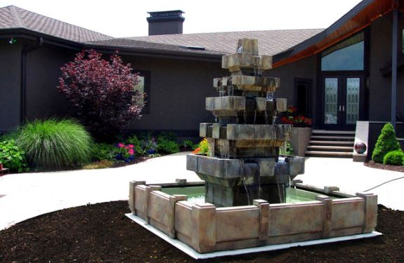 Cascadia Fountain in Dimensions Pool by Henri Studio