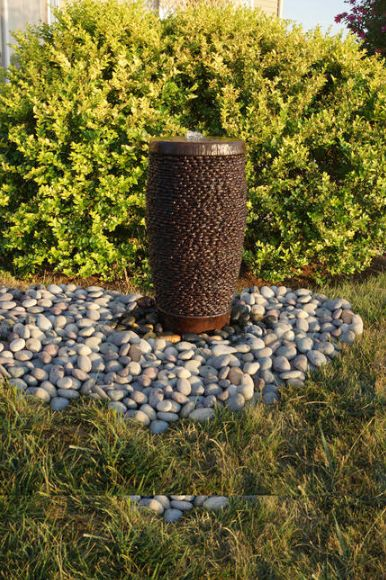 Shimmering Stones Pondless Fountain by Henri Studio