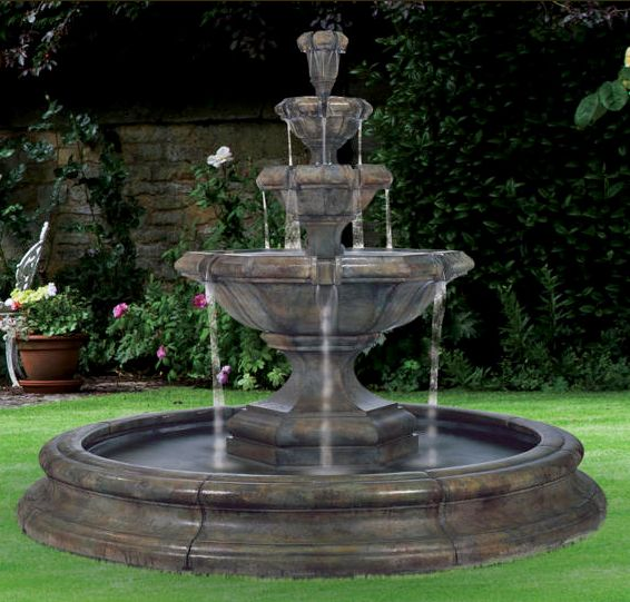 Grande Kensington Three-Tier Fountain With O S by Henri Studio