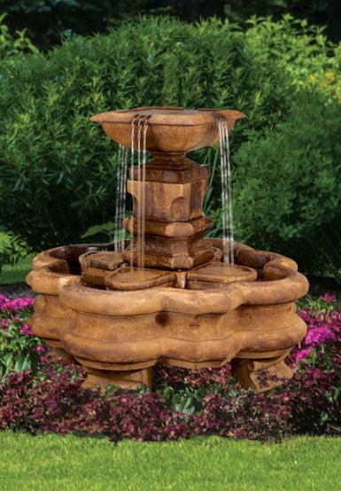 Classic Planter Pillar Fountain without pedestal by Henri Studio