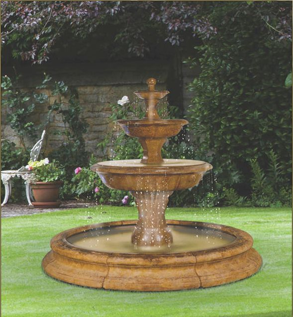 Grande Barrington Fountain In Toscana Pool With by Henri Studio