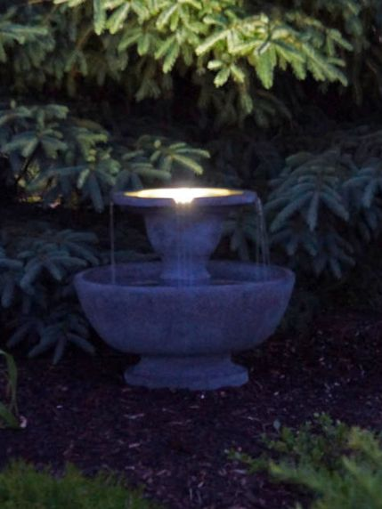 Alfresco Fountain With Plume Light by Henri Studio