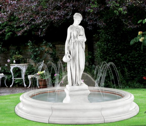 Hebe in Toscana Pool Fountain With OS And Ring by Henri Studio