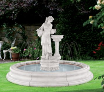 ANGELLA FOUNTAIN IN TOSCANA POOL WITH SPRAY RING (ORIGINAL SURRO