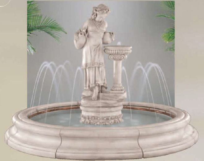 Angella In Toscana Pool Fountain With Spray Ring by Henri Studio