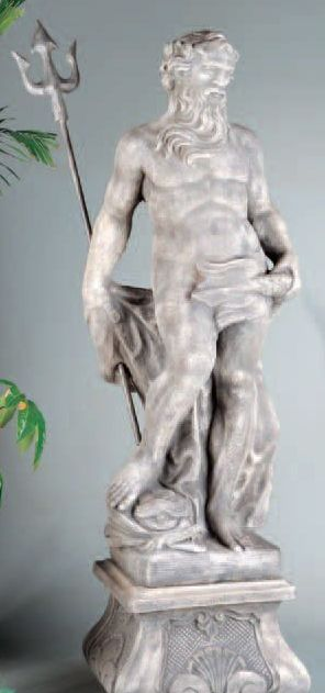 Neptune With Italian Pedestal by Henri Studio.