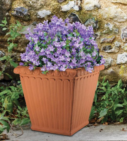 Square Fluted Planter by Henri Studio.