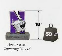 "Northwestern ""N-Cat"" College Mascot By Henri Studio (Vintage Sto"